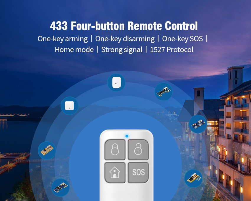 4-Keys Learning Code Remote Control with MCU Inside